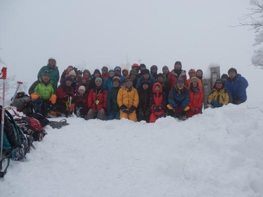 1月月例登山(岳連冬山登山大会)画像